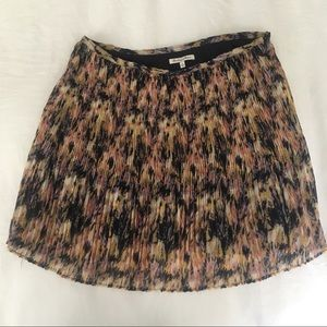 Madewell pleated floral skirt